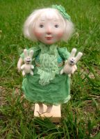 cabbage girl by talitka