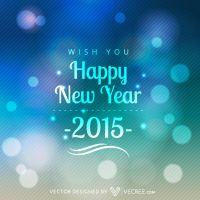 Glowing Happy New Year Design Free Vector by vecree