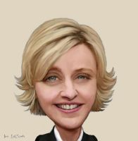 Ellen Degeneres Caricature by jantheempress