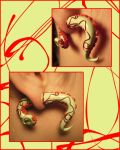 Pistachio Tentacles With Red Wire by Lunnie