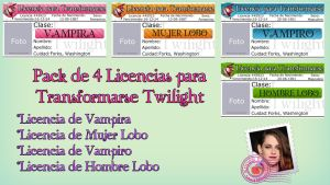 Pack de 4 Licencias para Transformarse TWILIGHT by RoohEditions