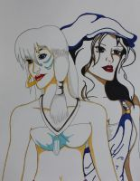 Kida and Audrey by RoxiaMagicGirl