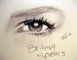 britney spears eye by kireji00