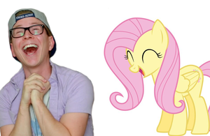 Tyler Oakley Laughing With Fluttershy by aloynna