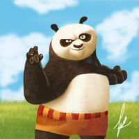 Po Kung fu panda painting by rehash435