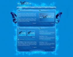 Blue Butterfly Designs by amandhingra