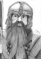 Gimli - 2b-pencil by Sellren