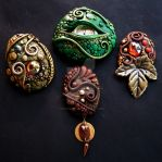 Polymer clay Jewelry 2 by MandarinMoon