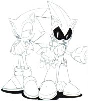 Sonic And Shard sketch by trunks24