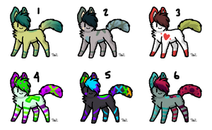 Custom adoptable batch for Topazgemine by RavensAdoptables