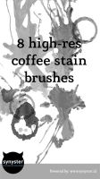 8 highres coffee stain brushes by synysternl