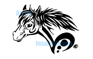 Horse Head Tribal Design by InsaneRoman