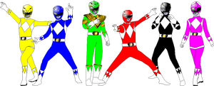 MMPR with Mystic Force Pose for Davontew1 by rangeranime