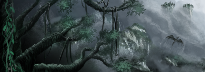 Jungle of mist by NocturnaDraco