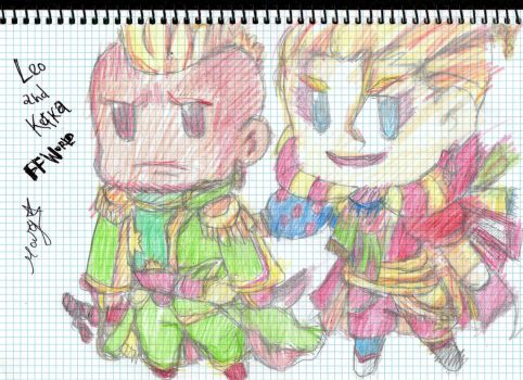 FFW Leo and Kefka by MARYXULA
