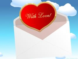 Flying Letter with Heart by flashdo
