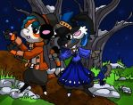 Bagbeans Headed to the Harvest Dance by SonGoku-Monkey