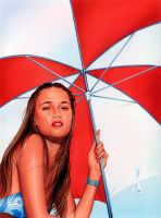 Red Umbrella by roberthendrickson
