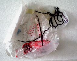 cows suffering of plastic by chintamani88