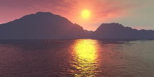 Terragen Sunset by flohannes