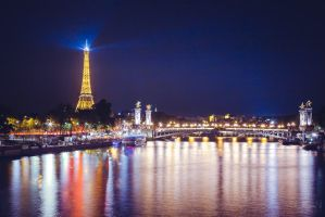 Seine by night by sican