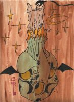 Burned candle by DaveGrimm