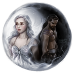 Game of Thrones: Khaleesi and Khal by daekazu