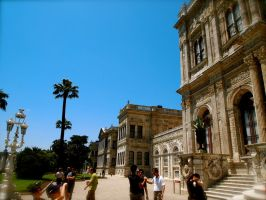 Outside Dolmabahce Palace by jacobjellyroll