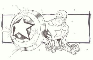 sketchy : Captain America by KidNotorious