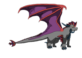 Shade the Dragon by SuperSonicFireDragon