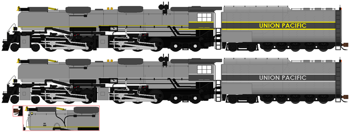 Union Pacific Greyhound Challenger sprites by RyanBrony765