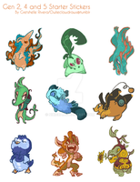 Starters Gen 2, 4, 5 Sticker Sheet by nikiera