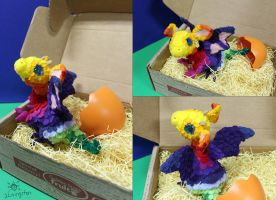 Little One Hatched in a Fruit Box by MeMiMouse