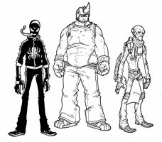 spideys rogues gallery by secowankenobi