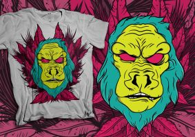 Gorilla T-shirt by iGooch