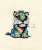 Macawnivore from The Croods / colored pencil by MikMerfiller