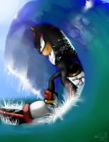 Shadow The Ultimate Surfer by SaphireDabria