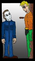 Aquaman VS Michael Myers by Lordwormm