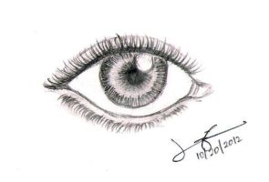 Realistic Eye by Lorrainechua27