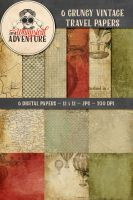 6 Grungy Vintage Travel Papers by Whimsical-Adventure