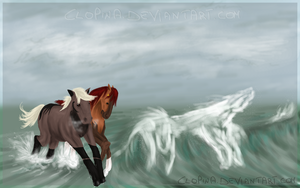 + dance of the waves + by Clopina