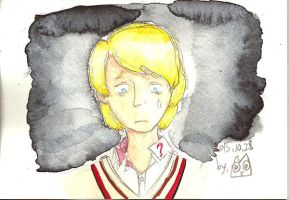 Weeping Fifth Doctor by Owlhatnest