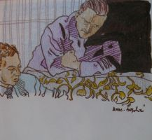 Benjamin Britten and Peter Pears - at home by dauwdrupje