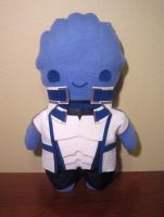 mass effect liara plush, chibi style! by viciouspretty