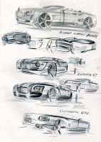 Some BENTLEY sketches by FJAG by fjagcars