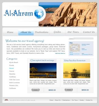 AL AHRAM Tourism portal by wallaa-art