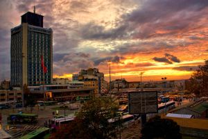 Sunset in Taksim Square by WhiteWay