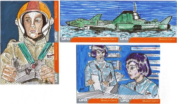 Unstoppable Cards UFO Sketch Cards by JChattox