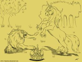 053 - The lion and the unicorn by Tiquitoc
