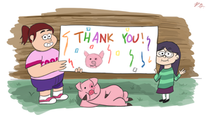 GF: 'Thank You' From Candy, Grenda and Waddles by PacificGreen